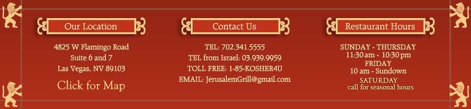 Jerusalem Grill Kosher Resturant
